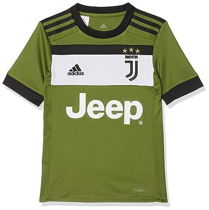 Adidas JUVE 3 JSY Y Camiseta 3ª Equipación Juventus 2017-2018, niños, Verde