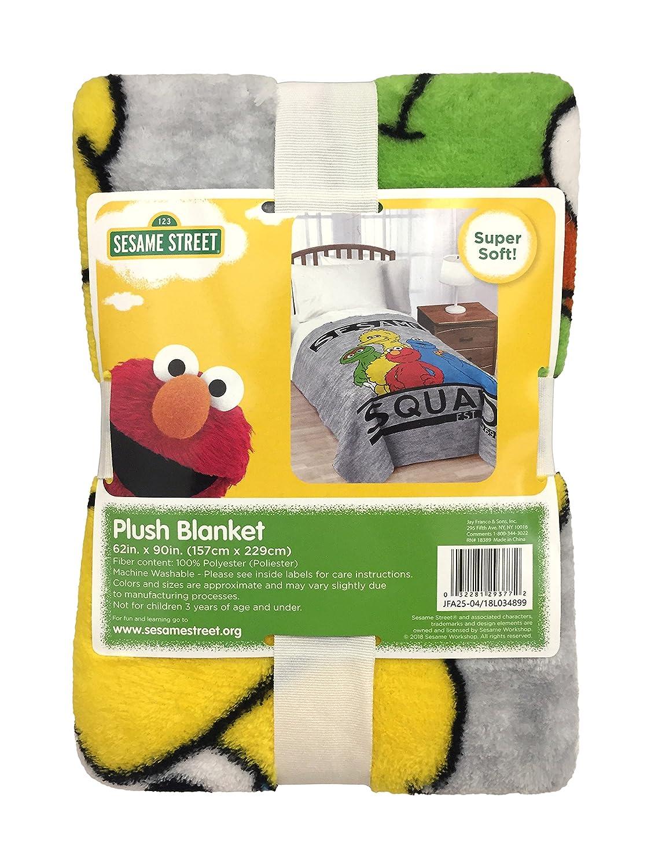 Amazon.com  Jay Franco Sesame Street Elmo Hip Plush Kids Blanket Featuring  Big Bird b6b3abccc