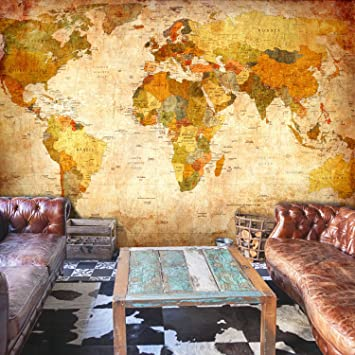 decomonkey | Fototapete Weltkarte Landkarte Kontinent 400x280 cm XXL ...