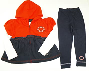 ed8dc6aa Image Unavailable. Image not available for. Color: NFL Chicago Bears Toddler  Girls 2 Piece Zip Up Jersey Hoodie ...