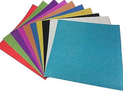 10 Hojas Cartulinas Adhesivas de Colores Brillantes Cartulinas de Colores Papel Pegatina para Manualidades DIY Artcraft Trabajo Álbumes de Recortes 30*30cm Multicolor: Amazon.es: Oficina y papelería