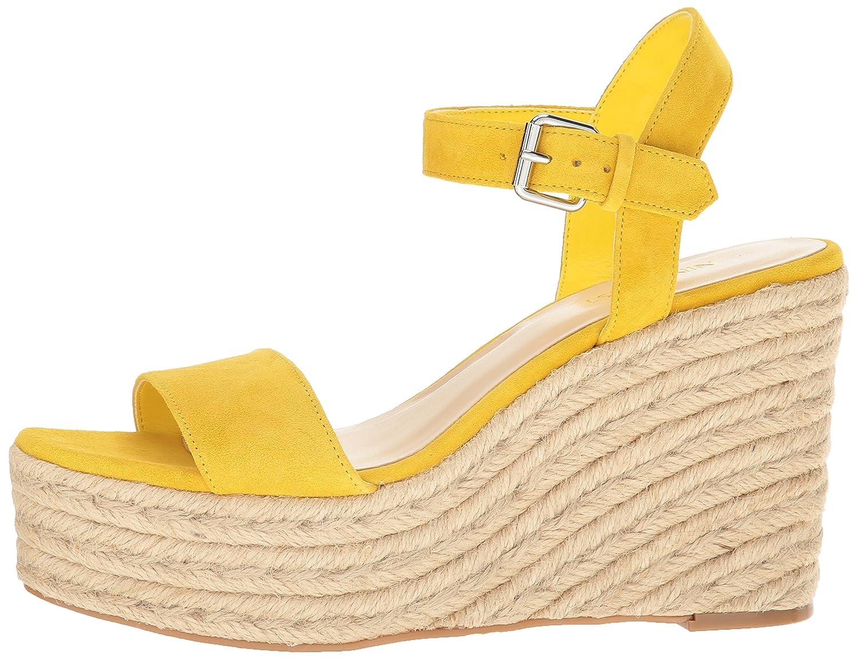 Nine West Women's Doitright Suede Wedge Sandal B01NBK503W 6.5 B(M) US|Yellow
