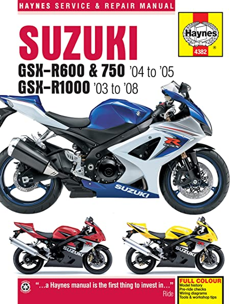 amazon com: suzuki gsxr600 gsxr750 gsxr1000 gsxr 600 750 1000 haynes repair  manual 4382: automotive