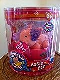 Teacup Piggies Allegra (Pink with Purple Forehead) Pet Basic Set by Atari