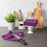 DII Cotton Terry Windowpane Dish Cloths, 12 x