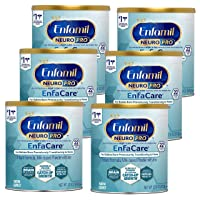 Enfamil NeuroPro EnfaCare Premature Baby Formula Milk Powder Cans 12.8 oz. (Pack of 6 Cans) Iron, MFGM, Omega 3 DHA, Probiotics, Immune Support & Brain Development (Package May Vary)