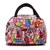 Reusable Fashion Lunch Bag for Women Cute Zipper Lunch Tote Bag Light Picnic Lunch Container