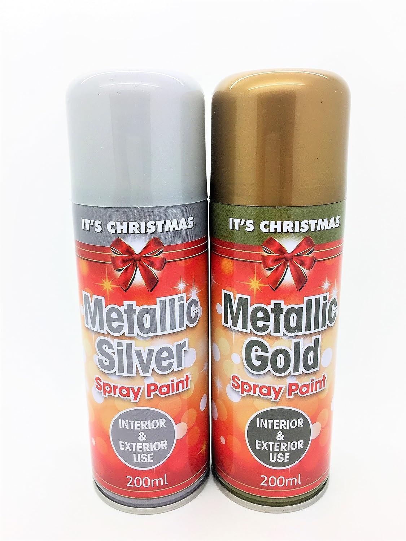 Set mit zwei Farbsprays – Gold und Silber (200 ml/Dose ...