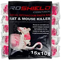 Roshield Rodent Pasta Poison For Mouse Mice Rat Control - Bait Station Refill Pack