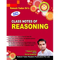 Class Notes Reasoning (English) for SSC
