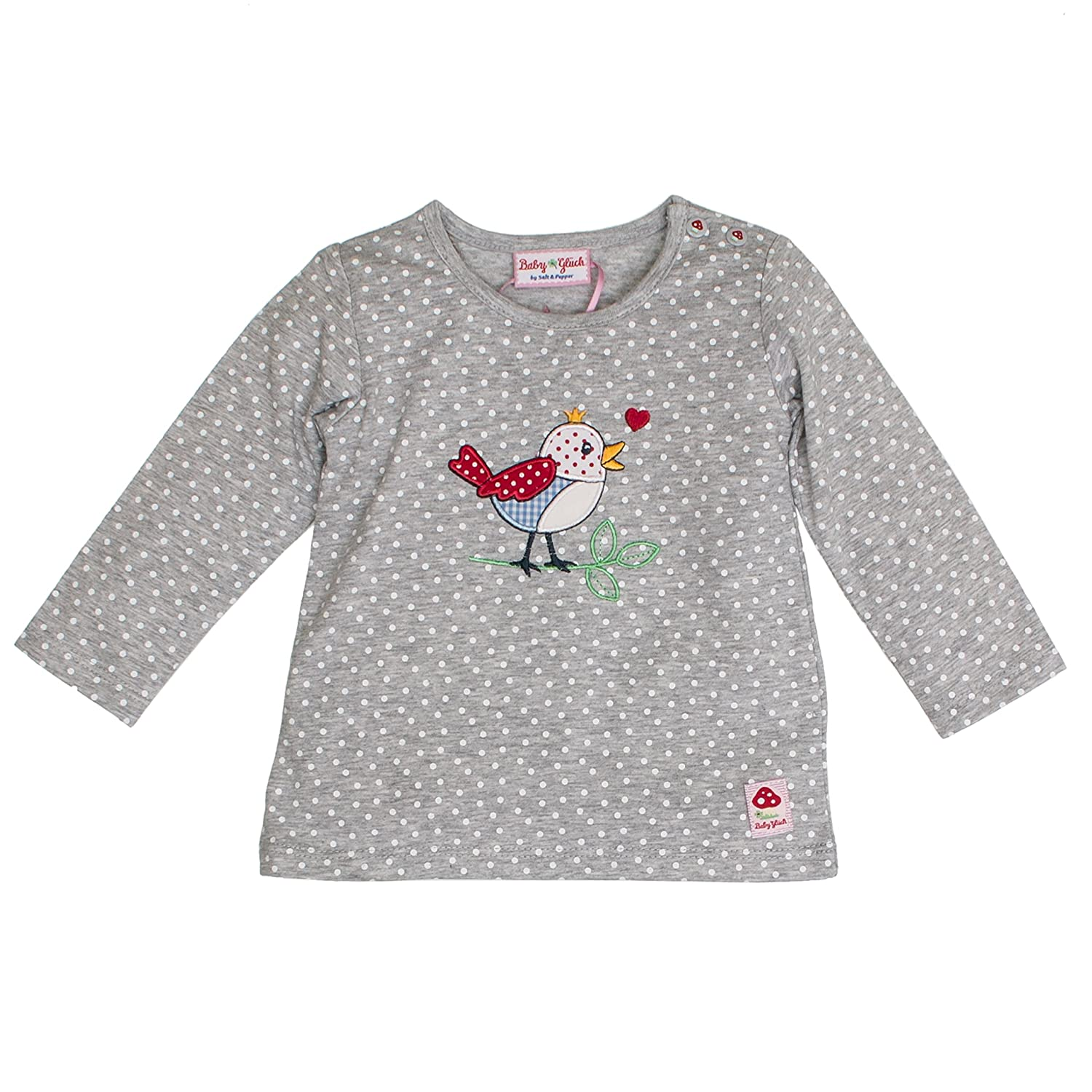 SALT AND PEPPER Baby-Mädchen Langarmshirt BG Longsleeve Allover Vogel 83811241