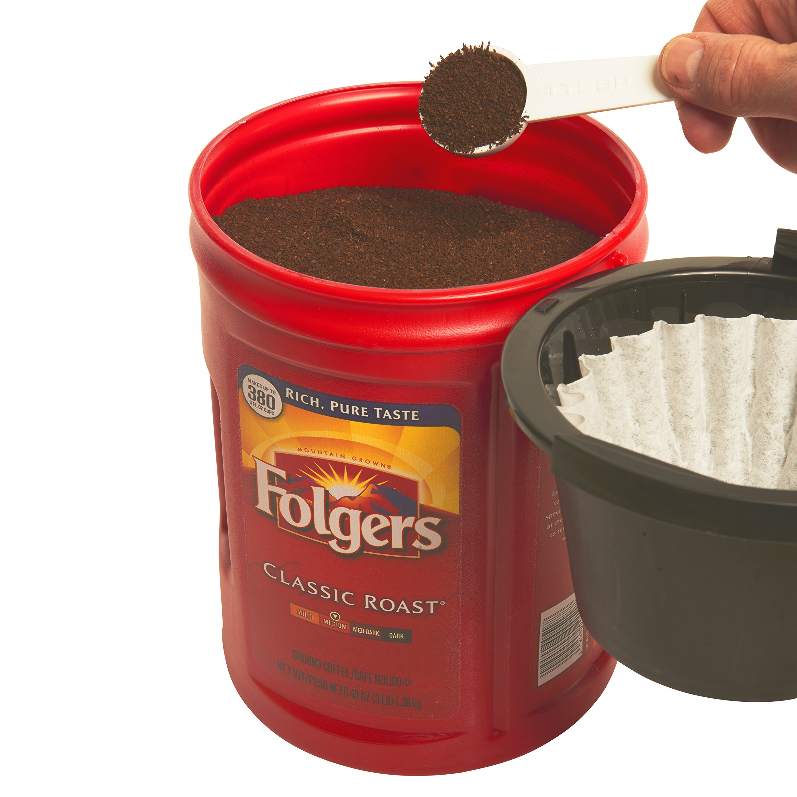 Folgers 4-Pack of 48 Ounce Canisters, Classic Medium Roast Coffee by Folgers (Image #4)