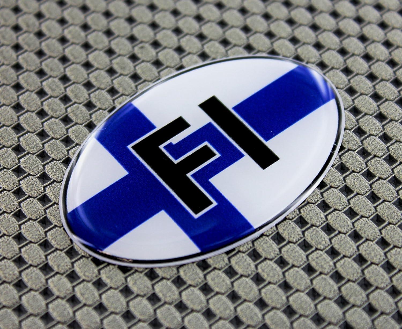 Finnland Flagge Domed 3D Aufkleber 6,1 x 4,1 cm Oval