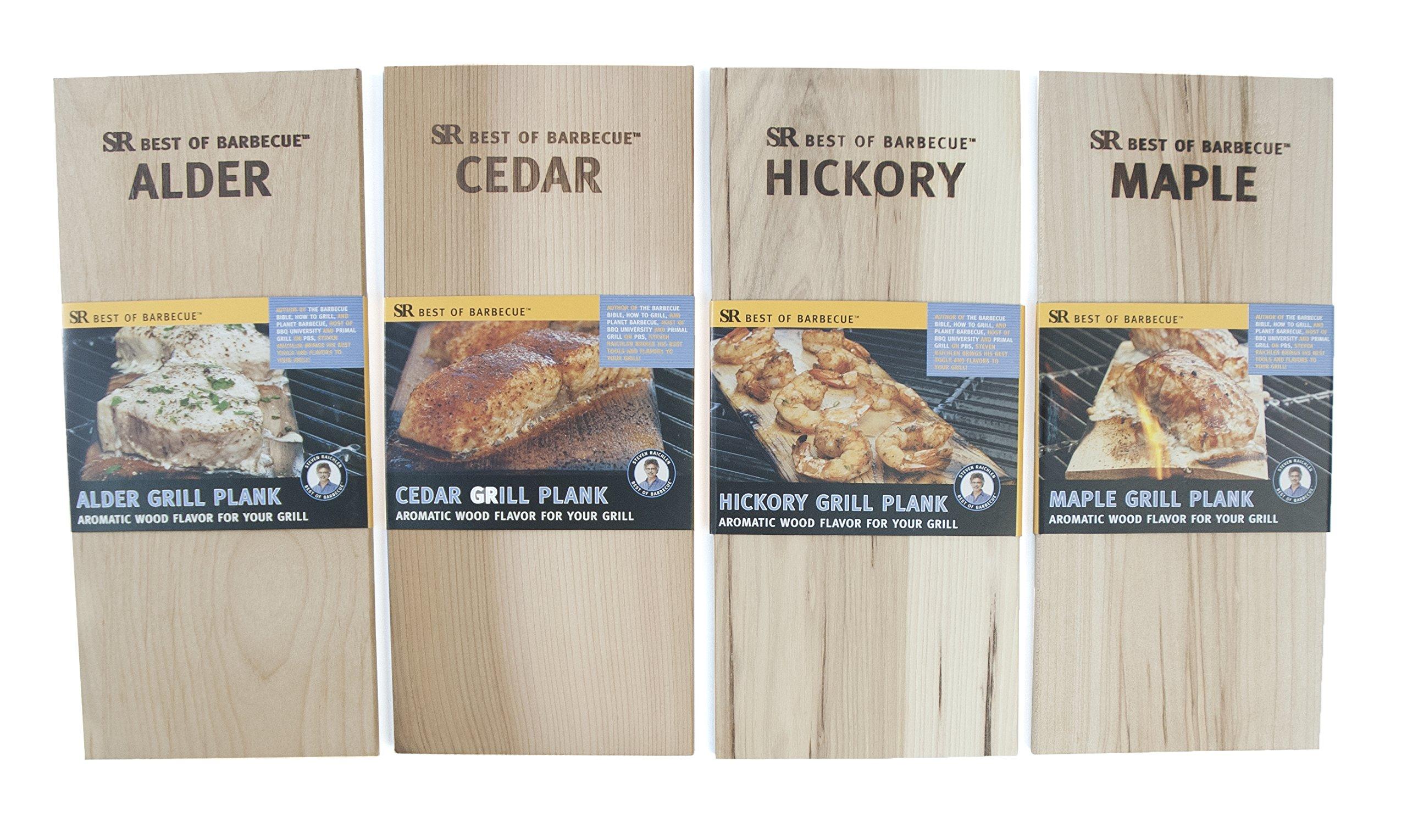 Steven Raichlen Best of Barbecue SR8702 Wood Grilling Planks, Set of 16