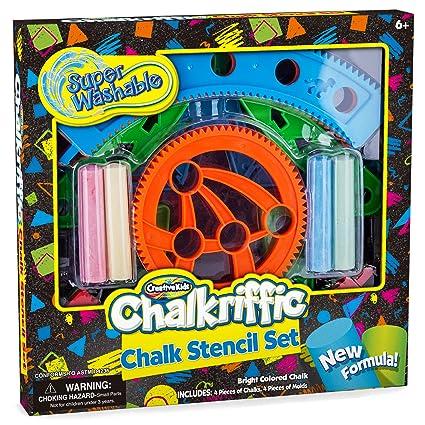 amazon com creative kids sidewalk chalk stencils kit chalk mandala