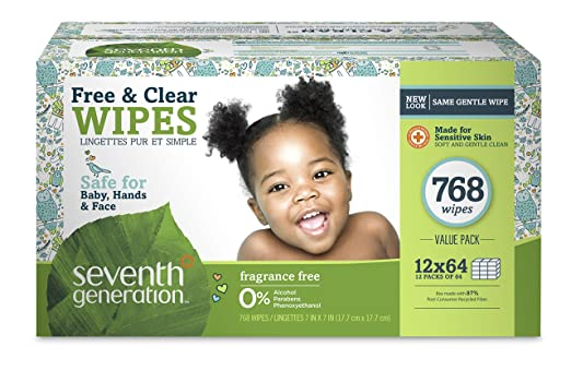 Seventh Generation Free and Clear Baby Wipes with Flip Top Dispenser Review