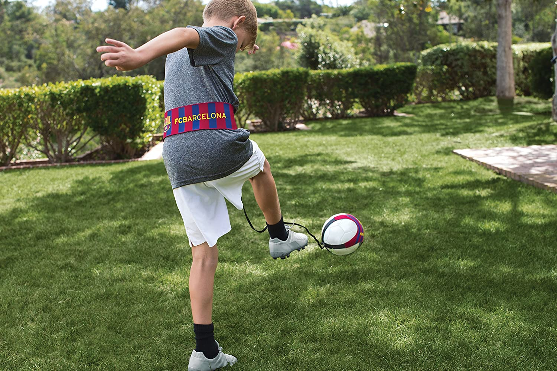 amazon com sklz star kick solo soccer trainer barcelona