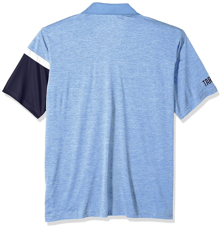 Carolina Blue X-Large NCAA North Carolina Tar Heels Mens NCAA Mens Short Sleeve Striped Polo Collared Teechampion NCAA Mens Short Sleeve Striped Polo Collared Tee