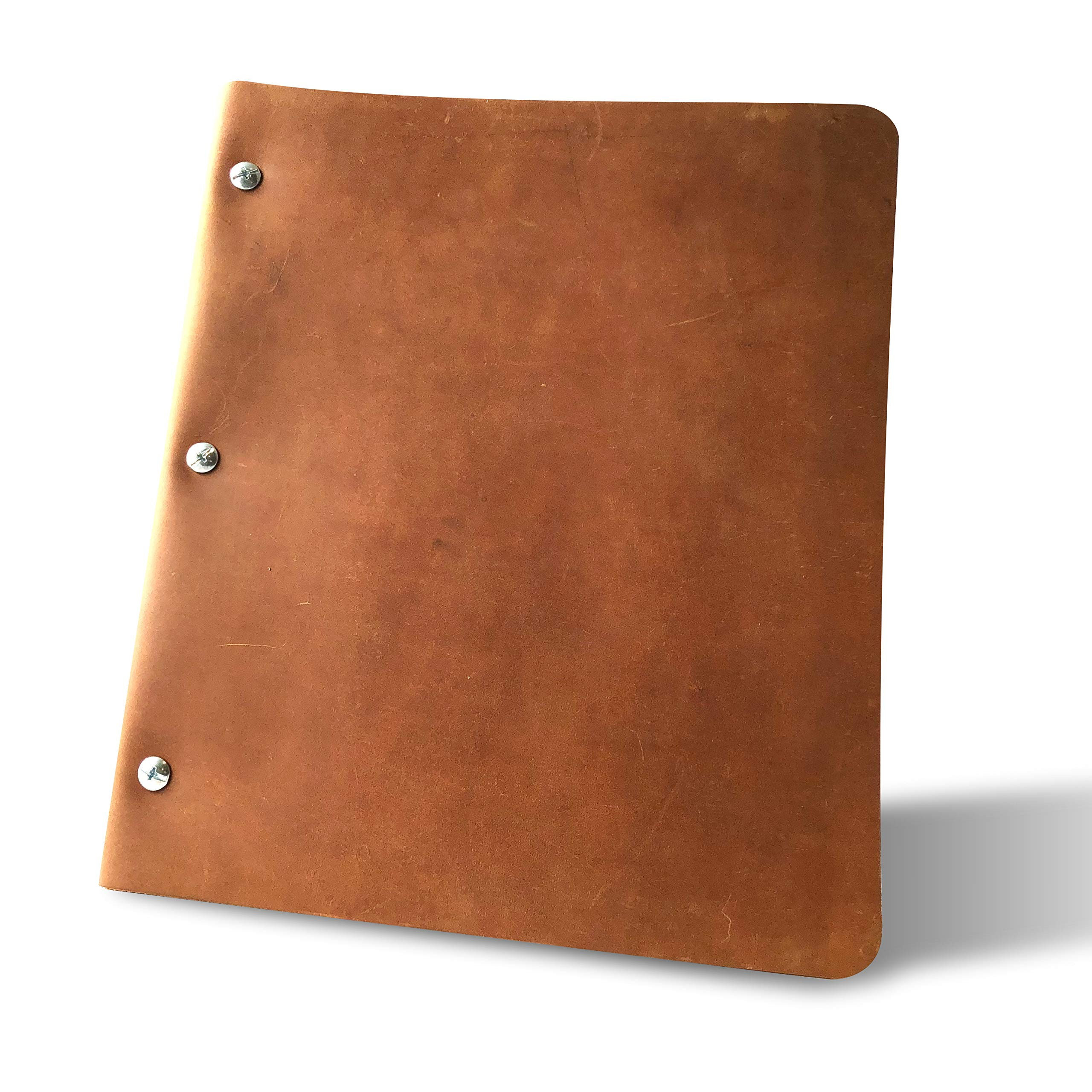 Murdy No. 1 Leather Binder (Wide Cut, Chestnut) by Murdy Creative Co