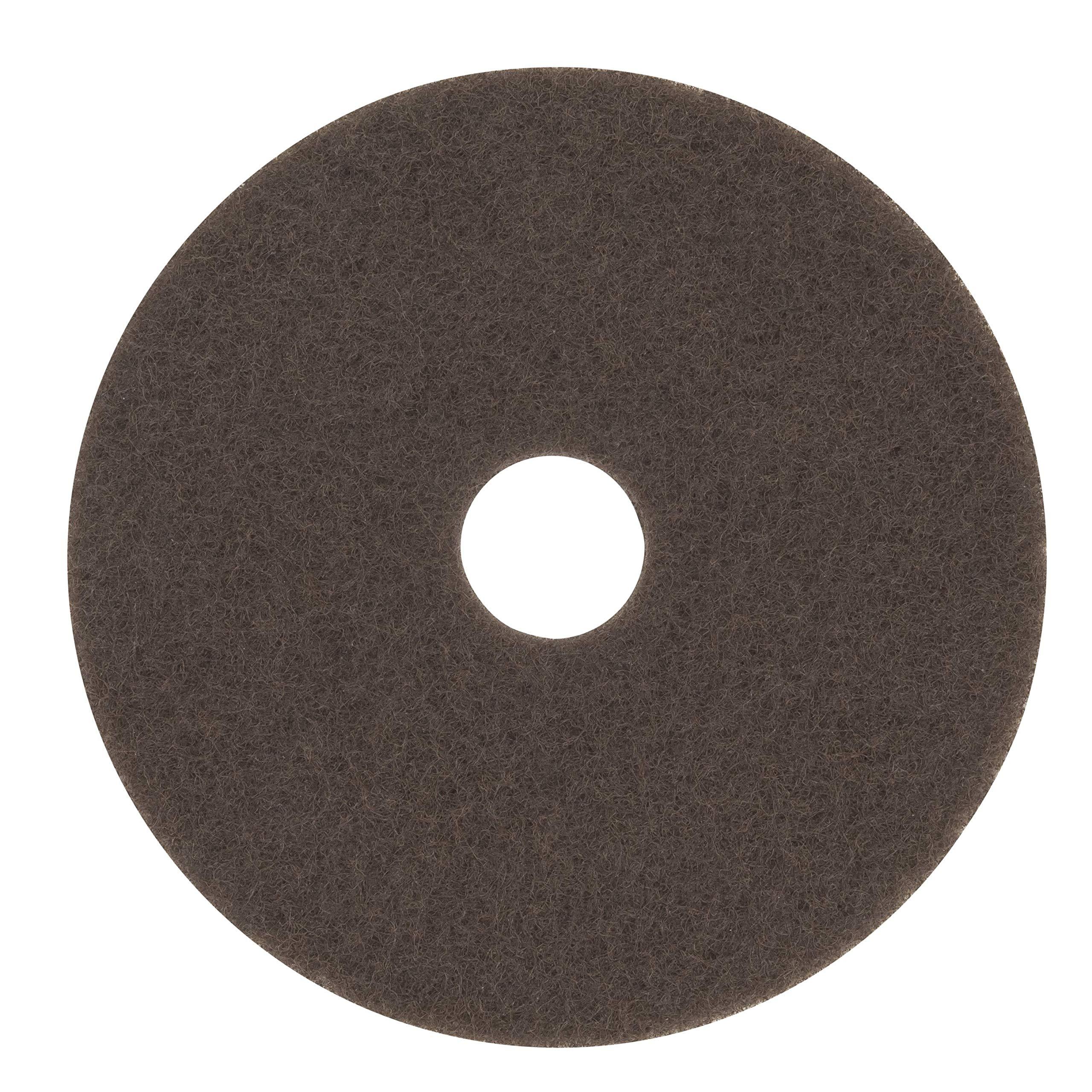 3M Brown Stripper Pad 7100, 17'' Floor Stripper Pad (Case of 5)
