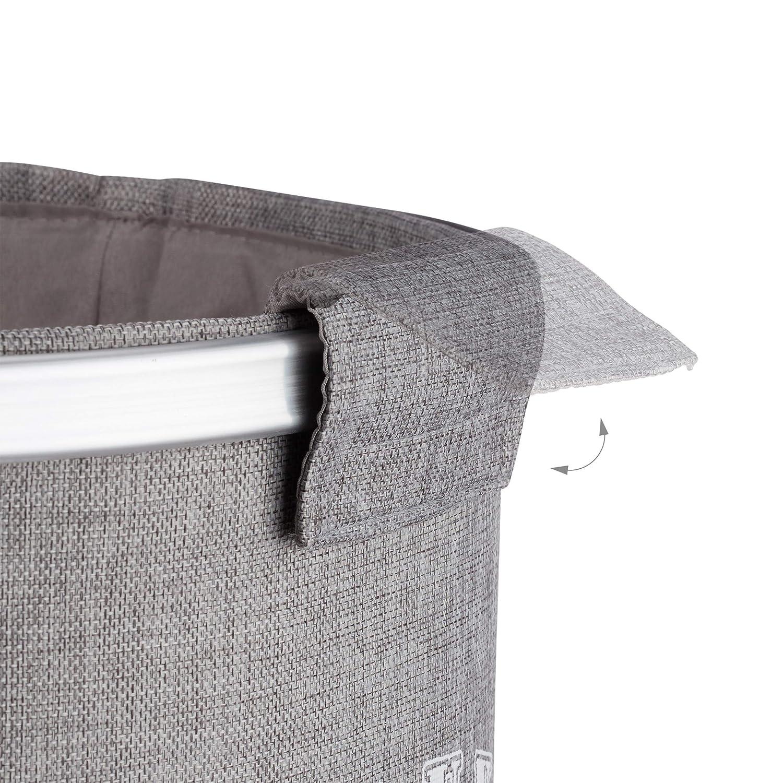 beige Relaxdays 2er W/äschesammler Set Vintage Stern Design XL W/äschesack 80 Liter Hx/Ø: 60 x 45 cm Leinen grau u