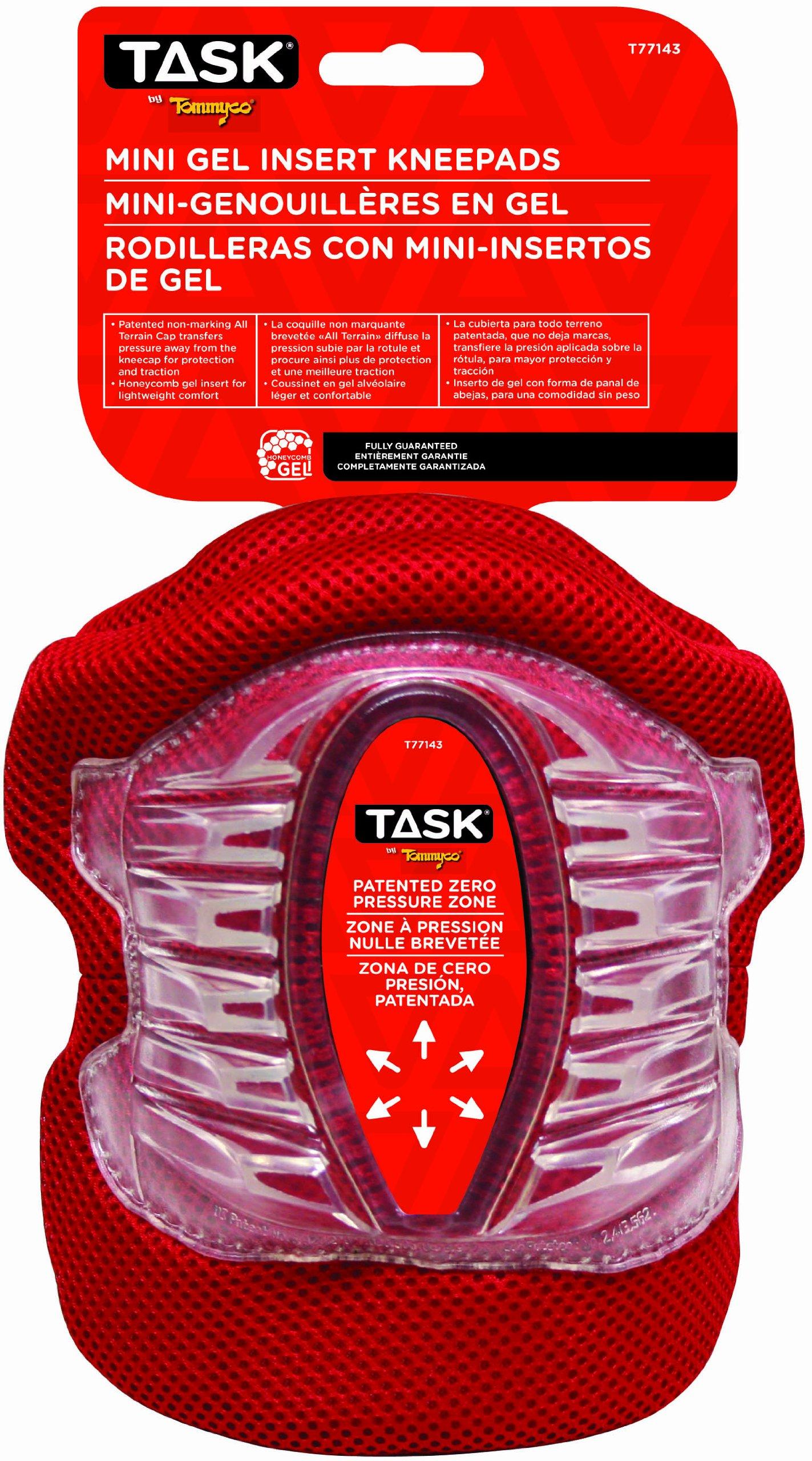 Task Tools T77143 Mini All-Terrain Gel Insert Kneepads