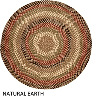 product image for Rhody Rug Jamestown Indoor/Outdoor Braided Rug Natural Earth 4' Round Reversible 4' Round Indoor Round