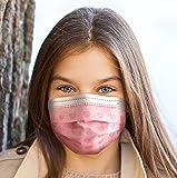 EZ Breezy Kids Disposable Face Masks (50 Pack) Perfect Size for Children with Convenient Resealable Bag (Pink, 4-12…