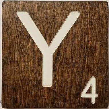 Large Scrabble Letter Tile (5 x 6 CREAM, Y)