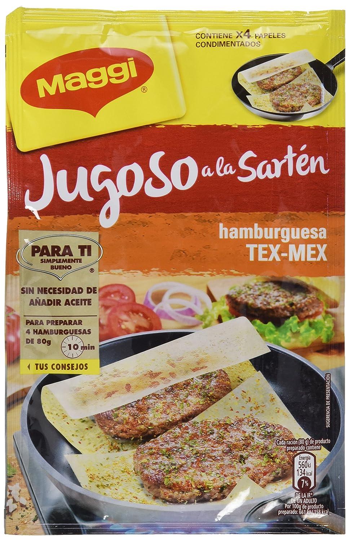 Maggi Jugoso a la Sartén Hamburguesa Texicana - Papel Condimentado - 25g: Amazon.es: Alimentación y bebidas
