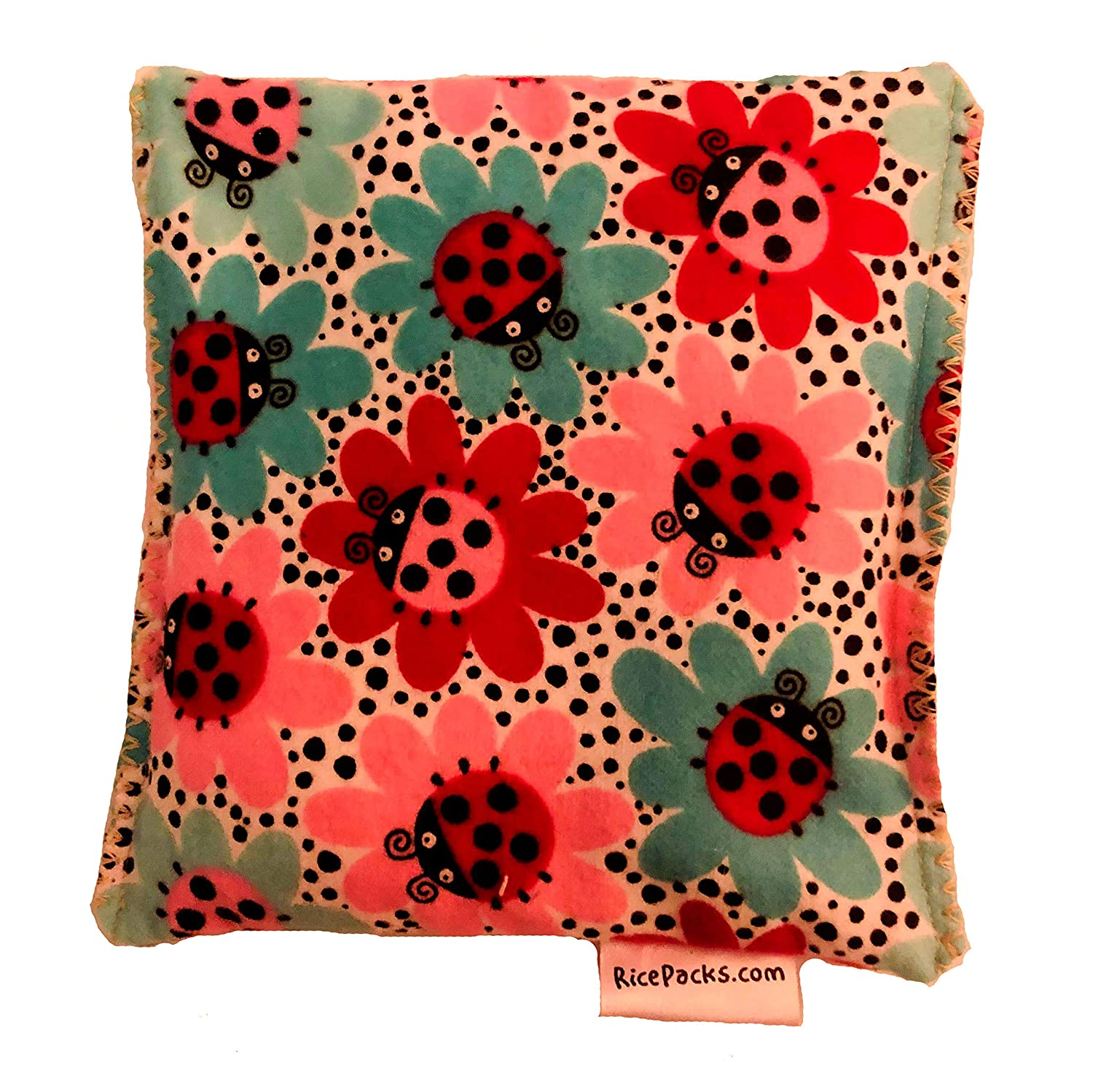 Ladybug Design 2packYou Pick Scent Hot and Cold Pack Reusable Microwaveable Rice Pack 5 inches by 5 inches Handmade reusable hot pads and reusable ice packs Hot Cold Pack Ideal Gift