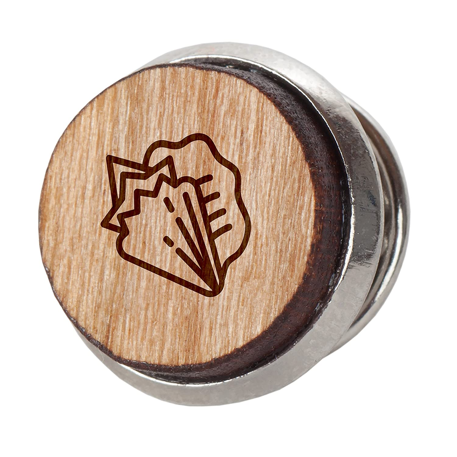 Conch Shell Fancy Stylish Cherry Wood Tie Tack 12Mm Simple Tie Clip with Laser Engraved Design Engraved Tie Tack Gift