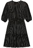 Derek Lam 10 Crosby Women's Kala Puff Sleeve Dress Black-White