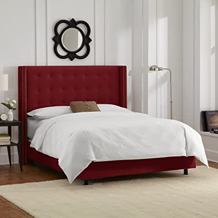 Amazon Com Skyline Furniture Nail Button Tufted Wingback Full Bed