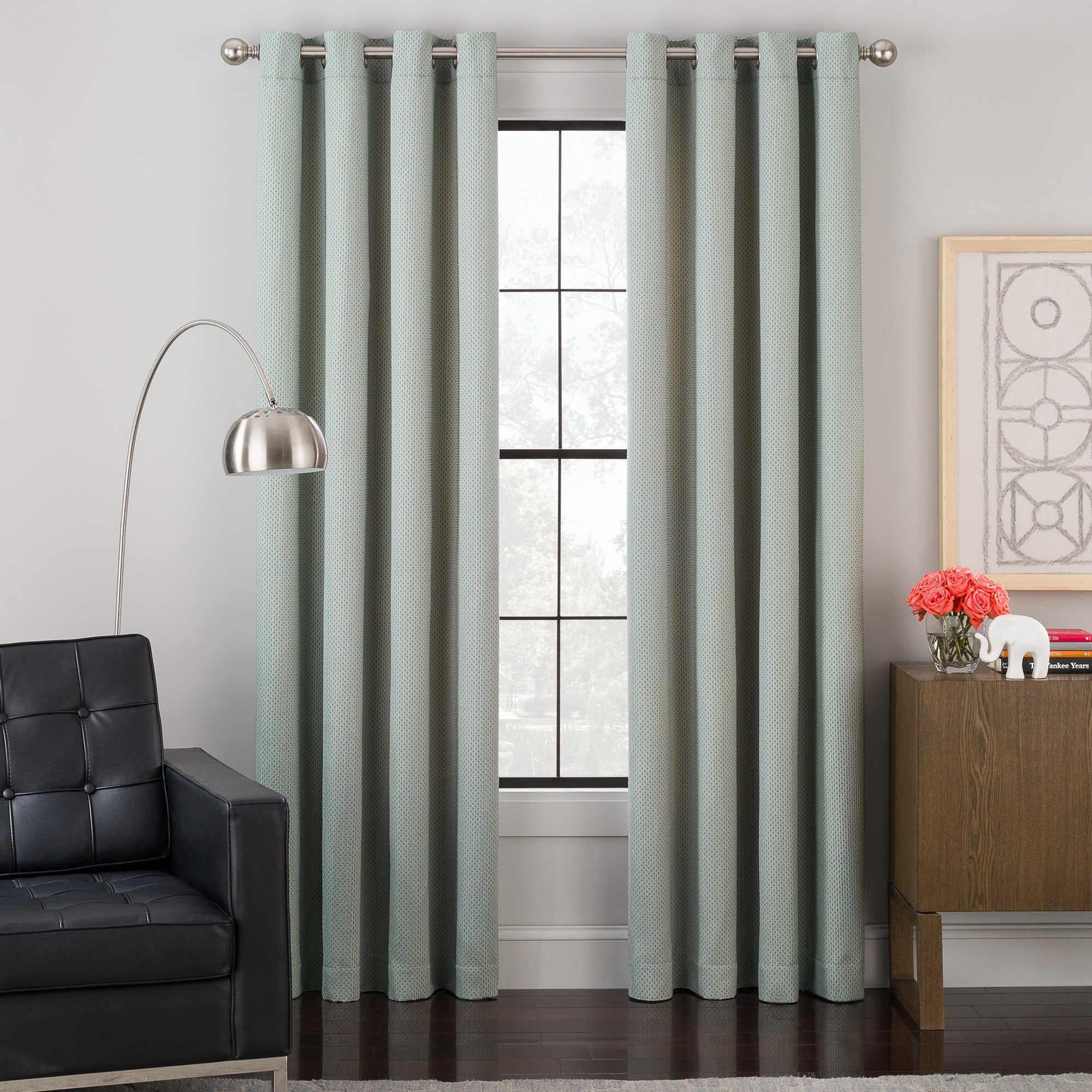 Brielle Impression Grommet Lined Window Panel, 84'' long, Spa