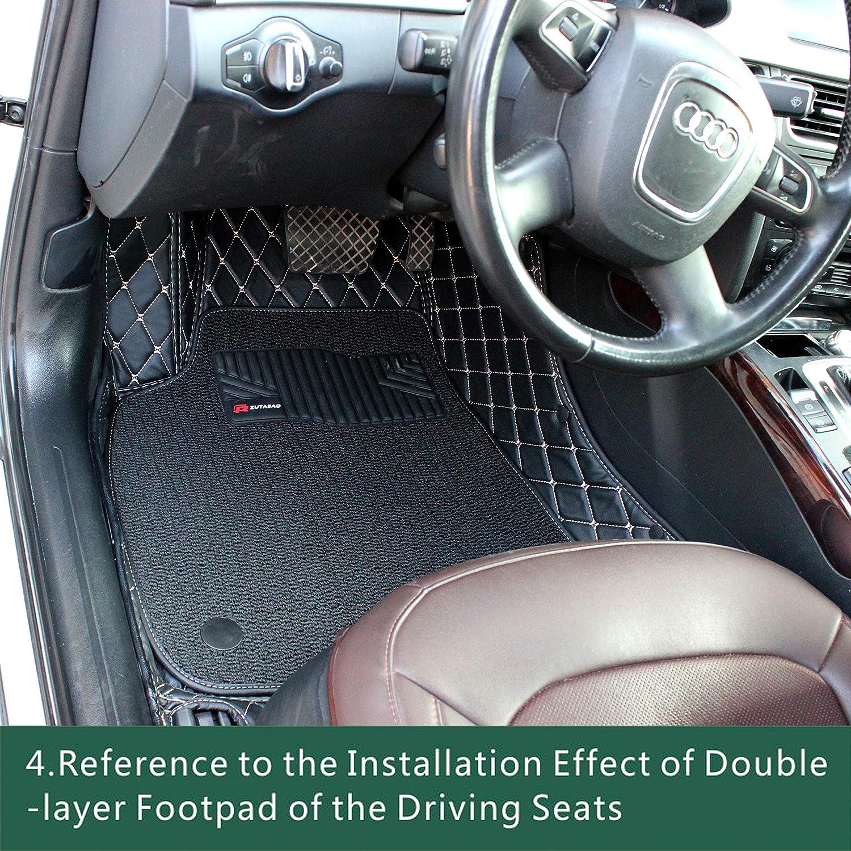 Double Layer, 2008-2017; Black-2 Kanredi Custom Fit Luxury XPE Leather Full car Floor Mats Waterproof for Year 2008-2017 BMW 5 Series 525i 520i 530i 535i 550i 528i