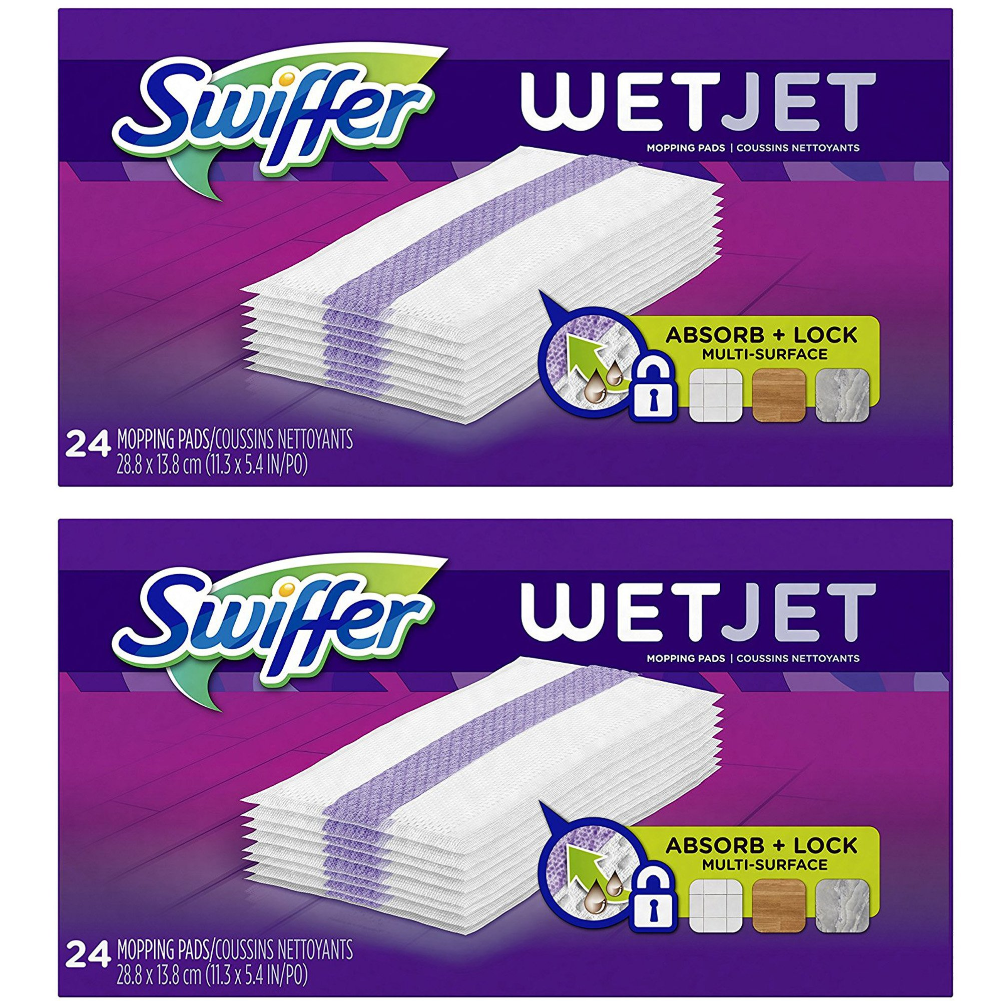 Swiffer WetJet Hardwood Floor Cleaner Spray Mop Pad Refill, 2-Pack