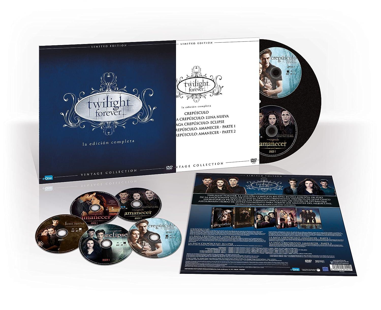 Pack Saga Crepúsculo Colección Vintage Funda Vinilo DVD: Amazon.es ...