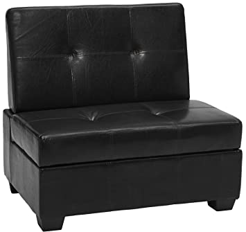 Prime Epic Furnishings Butler Microfiber Upholstered Tufted Padded Hinged Storage Ottoman Bench 48 Leather Look Black Beatyapartments Chair Design Images Beatyapartmentscom