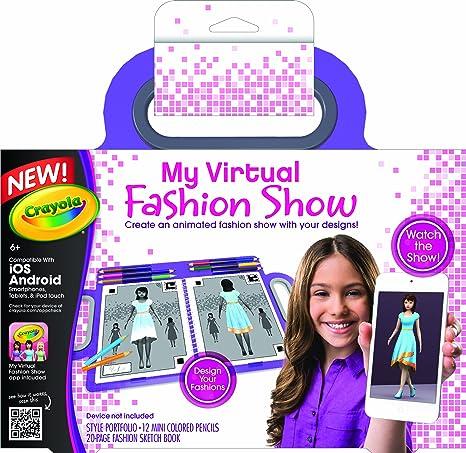 amazon com crayola my virtual fashion show toys games