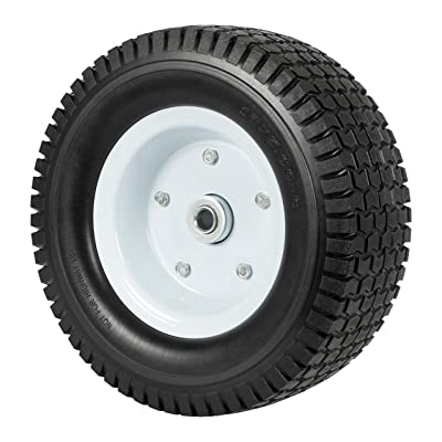 """Heavy Load Flat Free Extra Wide Wagon Dolly Cart Tire (11-3/4"""" Diameter and 4"""" Width): Office Products"""