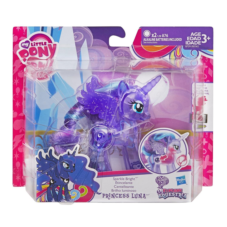Amazon.es: My Little Pony Explore Equestria Sparkle Bright 3.5-inch Princess Luna by My Little Pony: Juguetes y juegos