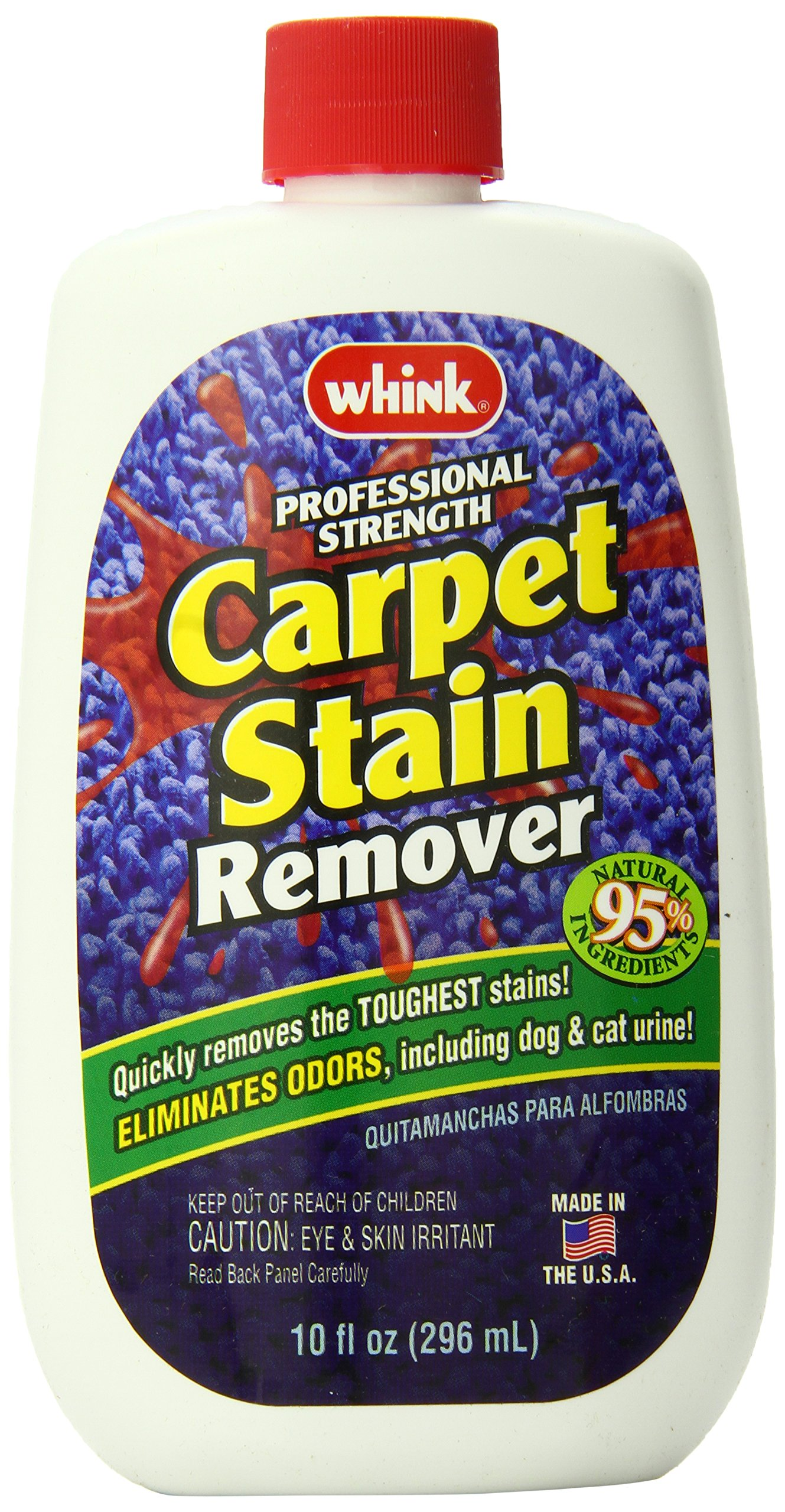 Whink Carpet Stain Remover, 10-Ounce Bottle (Pack of 6) by Whink