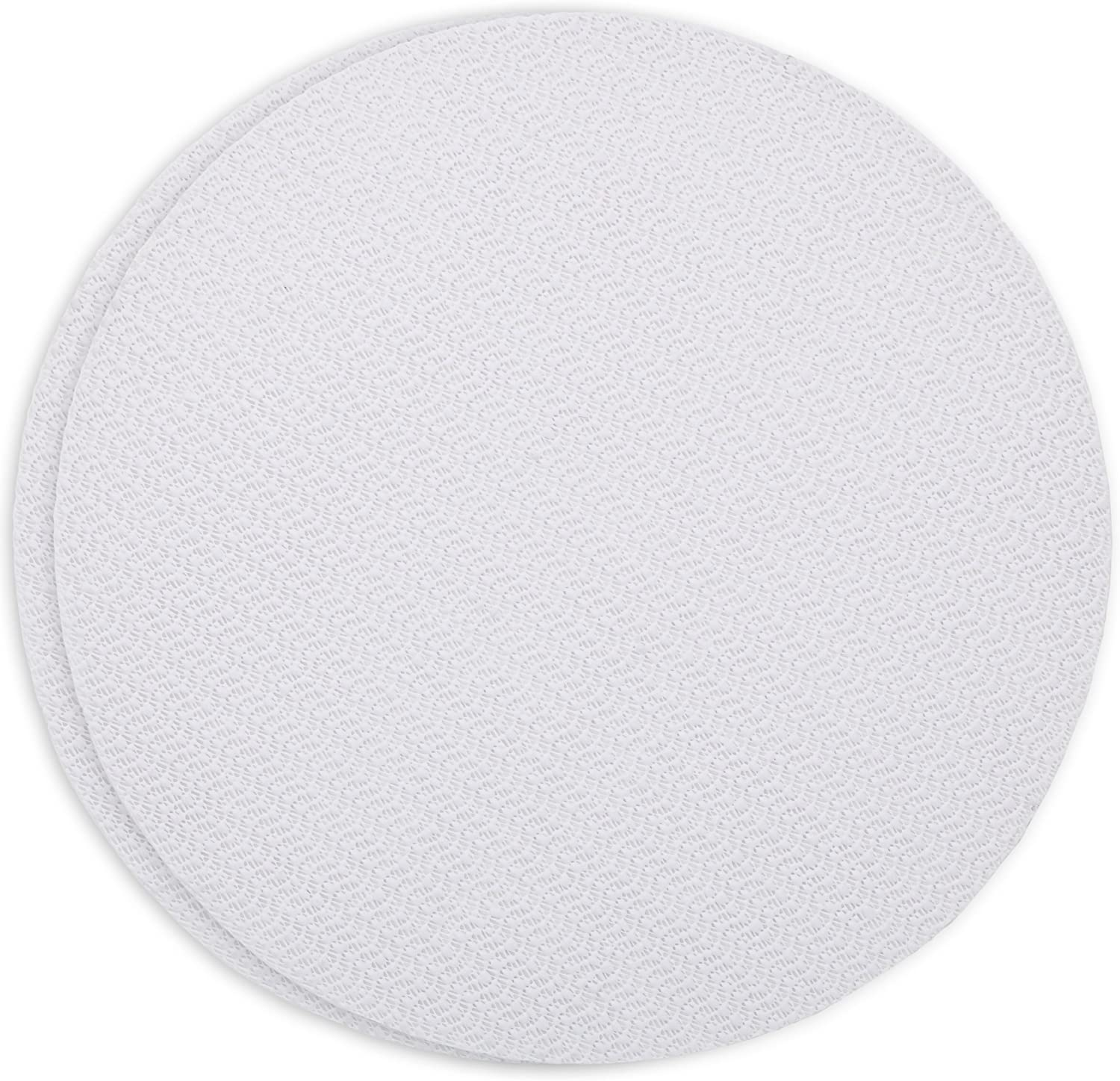 Ateco Set of 2 Non-Slip Pads, Reusable, Food Safe Plastic, 12-Inch Diameter, White