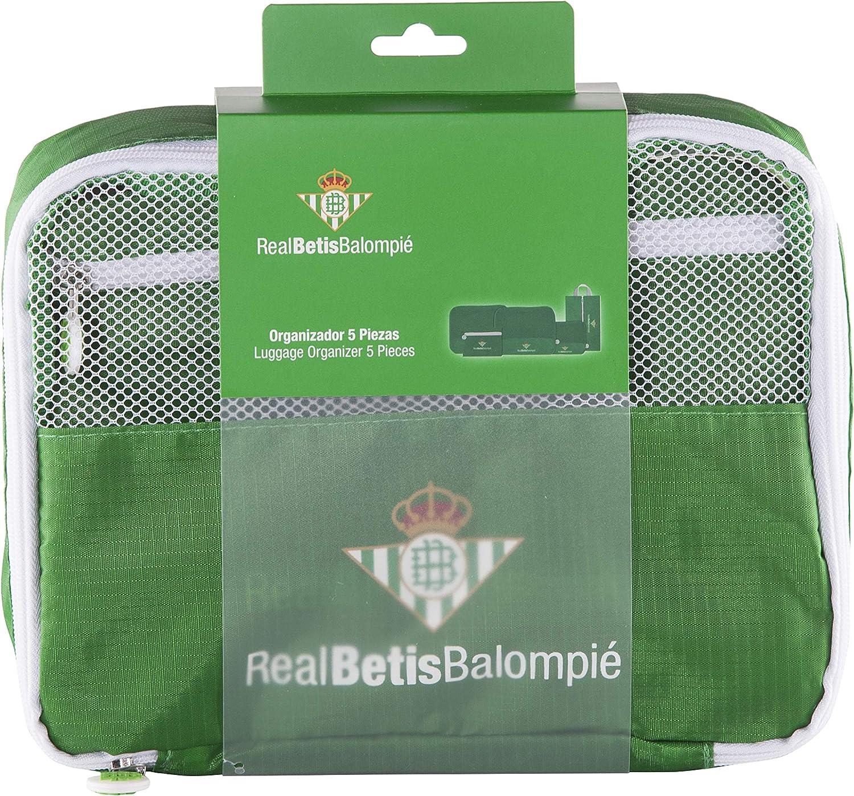 Real Betis Balompié Balompié Organizador de Equipaje - Producto Oficial del Equipo, con 5 Piezas Diferentes y Fabricado en Nylon muy Ligero para No Añadir Peso a la Maleta