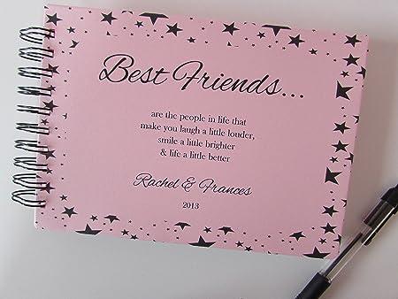 personalised best friends friendship photo album scrapbook guest