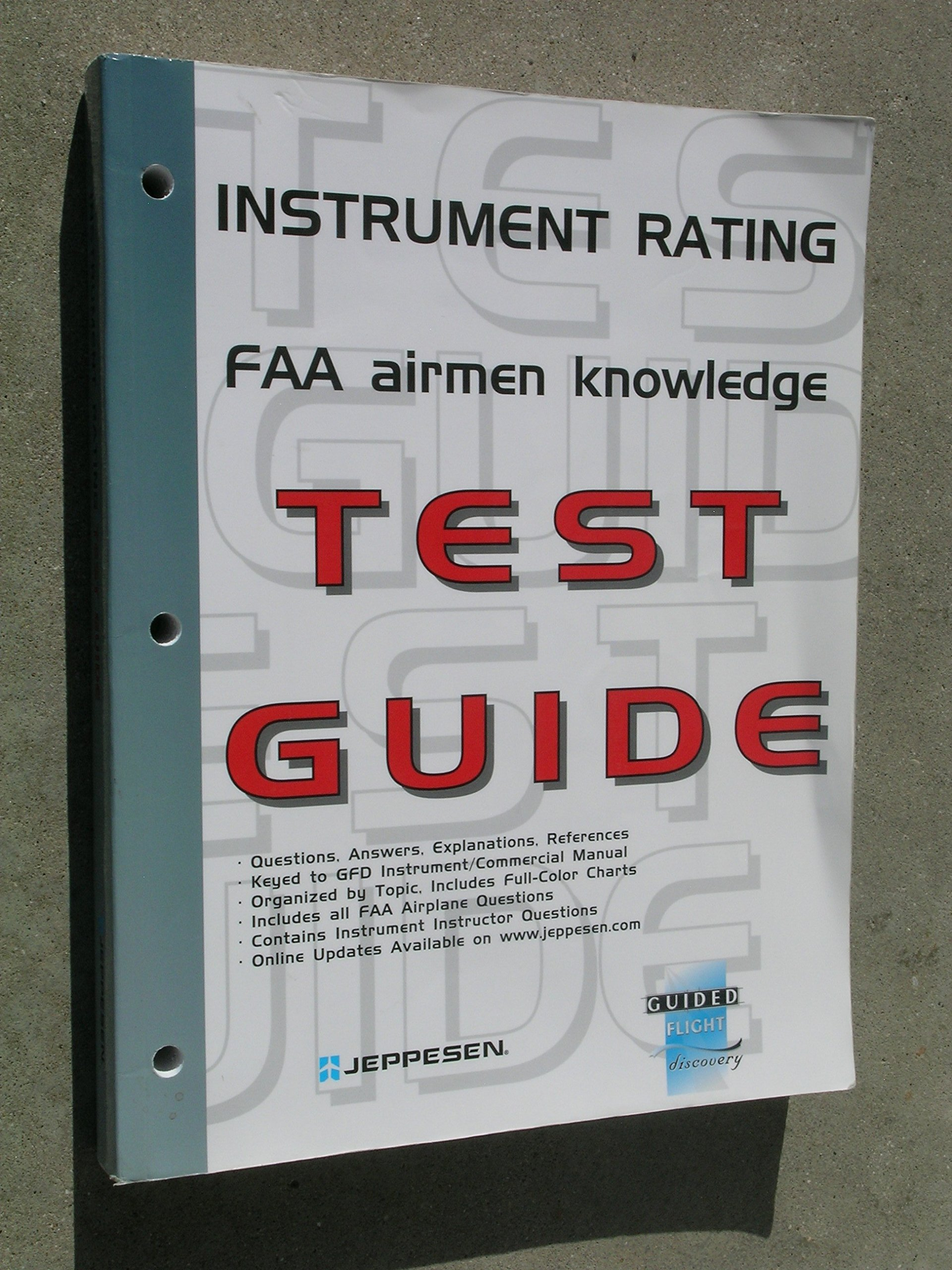 Instrument Pilot Written Exam Study Guide (Pilot Training Series): Jeppesen  Sanderson: 9780884873075: Amazon.com: Books