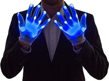 LED Bleu NEON NIGHTLIFE Gants Light Up Boy