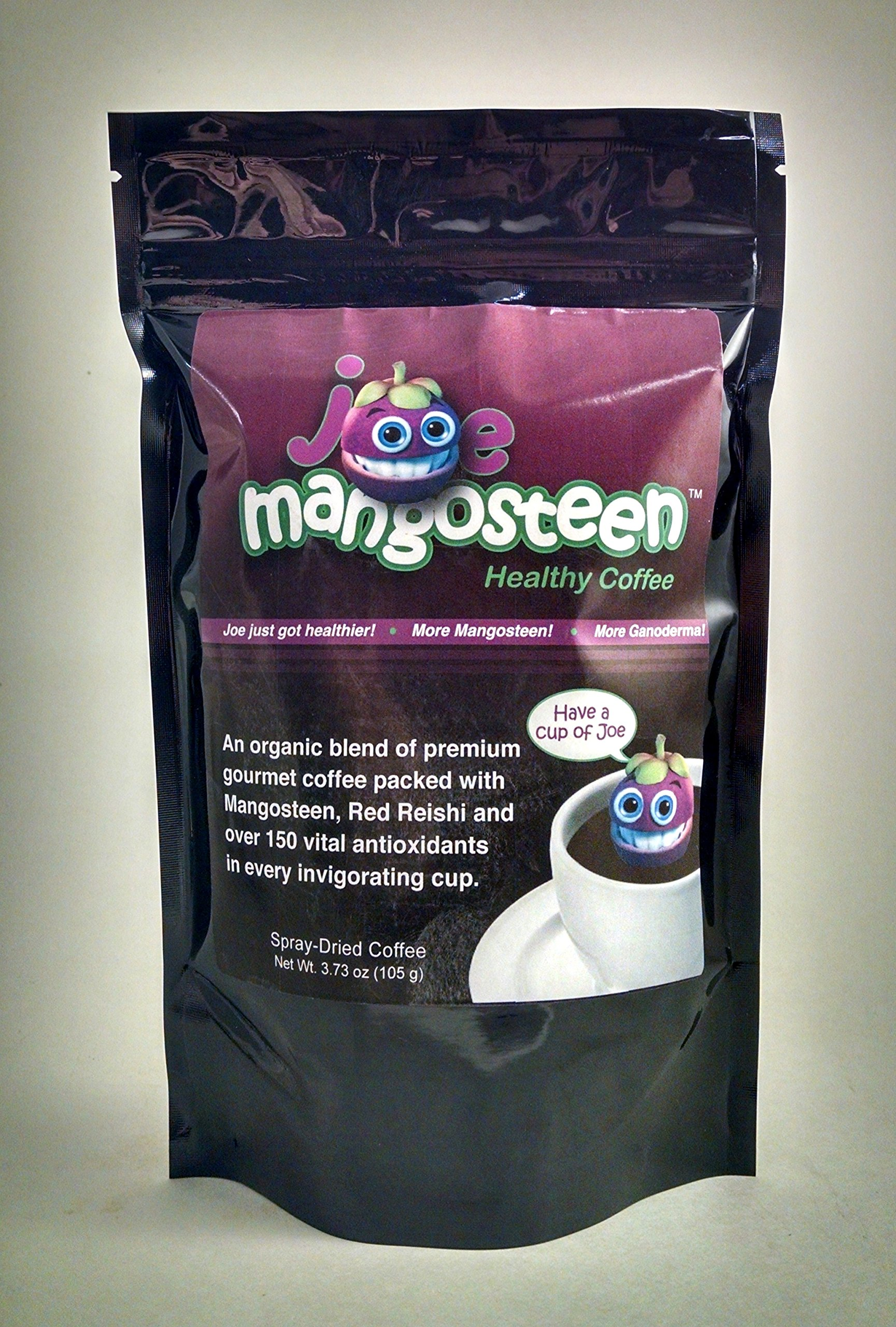 Joe Mangosteen Healthy Organic Coffee with Mangosteen & Ganoderma 12 - 3.73oz Bags (480 Servings) by Joe Mangosteen
