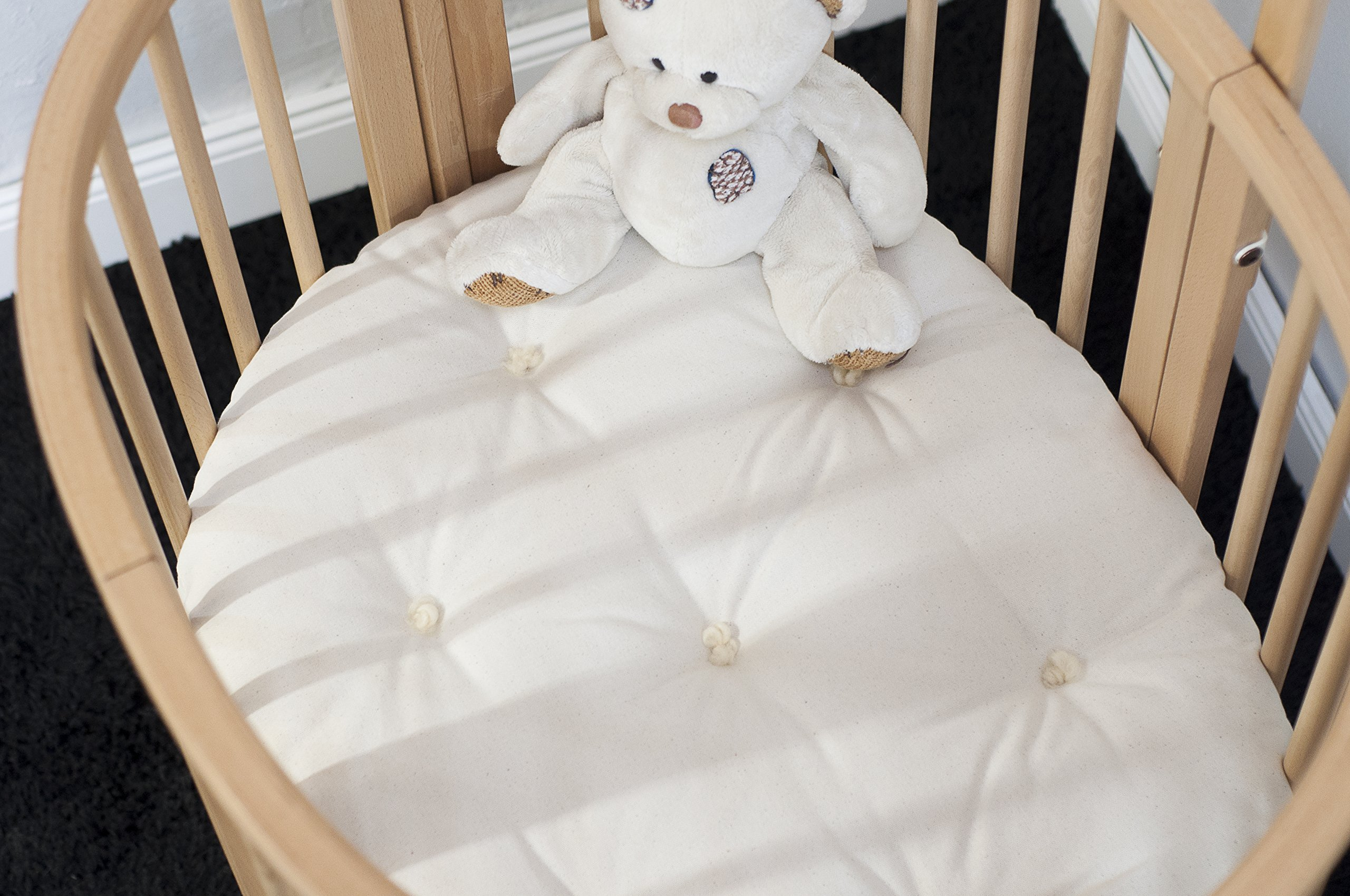 Home of Wool / Handmade Wool-Filled Mattress / STOKKE Sleepi Junior, Bed or Mini Size / Cover - Cotton, Linen or Lambswool / Organic Wool Filling/ Non-toxic Nursery Bedding / Custom Sizes Available